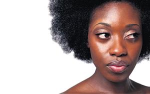 Ebony donkere huid